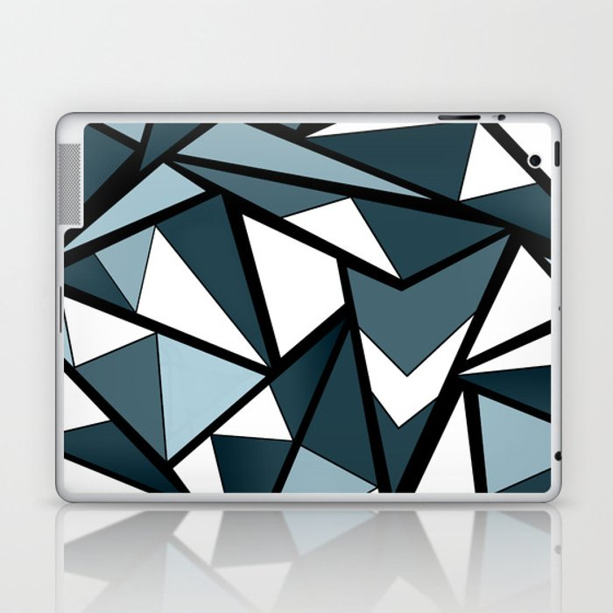 Geometric pattern in grey and white tones . Laptop & iPad Skin