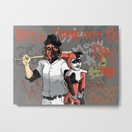 Bats, Come Out to Play! Metal Print