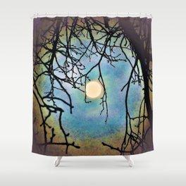 eerie moon Shower Curtain