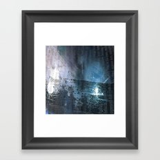 Taking the Evening Train Through Winter Words Framed Art Print