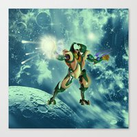 robot Canvas Prints featuring Robot  by nicky2342