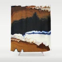 Sedimentary Shower Curtain