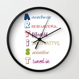 Artist Analogy Wall Clock