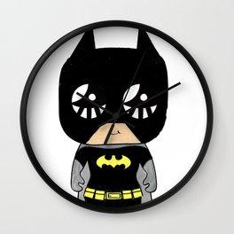 MiaMoji Bat Super Hero Hand Coloured Wall Clock