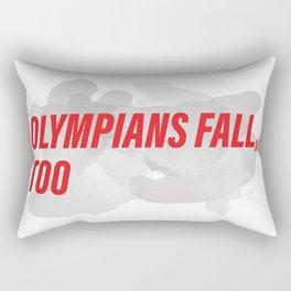 Olympians Fall, Too Rectangular Pillow