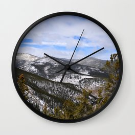 Mountain view from Squaw Pass Road Wall Clock
