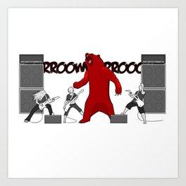 Growly Bear Metal Art Print