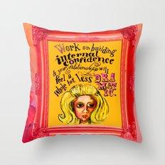 Relationship: Pink & Orange  Throw Pillow