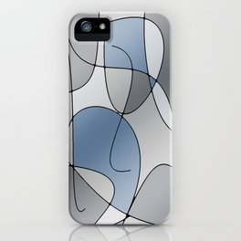 ABSTRACT CURVES #1 (Grays) iPhone Case