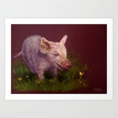 { Pig } Art Print