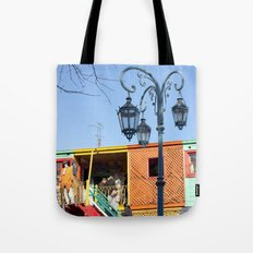 Street Lights of La Boca III Tote Bag