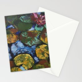 Water Lilies or All Kinds of Emotions /// by Olga Bartysh Stationery Cards