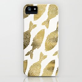 Indonesian Fish Duo – Gold Palette iPhone Case