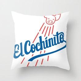 El Cochinito LA logo Throw Pillow