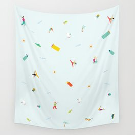 Yoga People Wall Tapestry