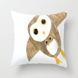 Owl Together Again Throw Pillow