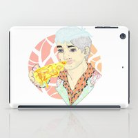 fitness iPad Cases featuring His Fitness Regime by percieandbert