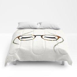 Tortoiseshell Glasses Brunette Comforters