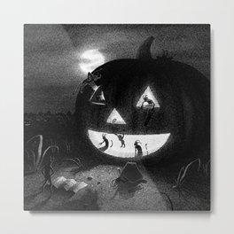 Drawlloween 2013: Pumpkin Metal Print