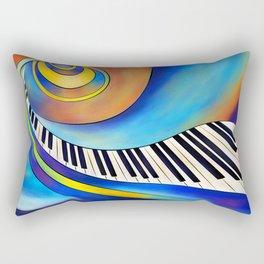 Redemessia - spiral piano Rectangular Pillow