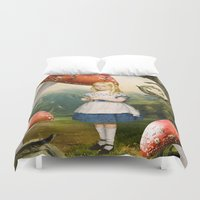 alice Duvet Covers featuring Alice by Diogo Verissimo