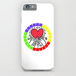 LOVE KEITH HARING iPhone Case