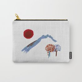 Mountain trees watercolor Carry-All Pouch
