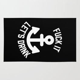 Let's Drink Funny Quote Rug
