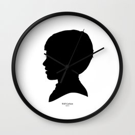 Will Carlson Silhouette Wall Clock
