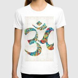Colorful Om Symbol - Sharon Cummings T-shirt