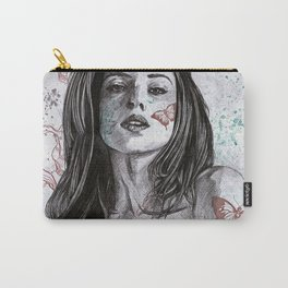 Nothing Violates This Nature (erotic drawing, nude butterfly girl) Carry-All Pouch