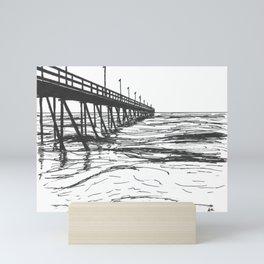 At the Pier Mini Art Print