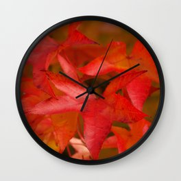 Maple Leaves in Autumn Wall Clock