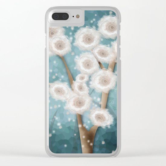 New year's design . Winter. Clear iPhone Case