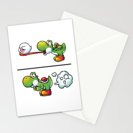 Farting Yoshi Green Stationery Cards