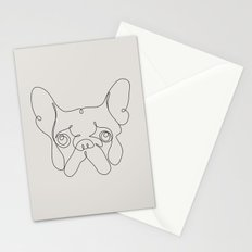 One Line French bulldog Stationery Cards