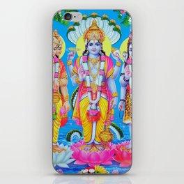 Hindu Trinity Brahma Vishnu Shiva Yoga Buddism Poster Art India iPhone Skin