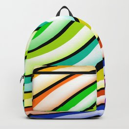 Colorful Glossy Stripes  Backpack