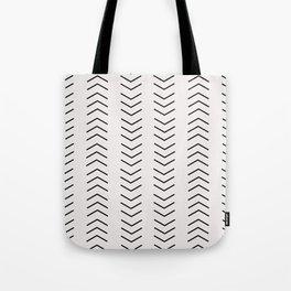 mudcloth pattern white black arrows Tote Bag