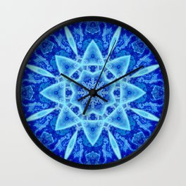 Ice Matrix Mandala Wall Clock