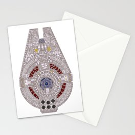 Spaceship Ride Stationery Cards