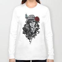 gypsy Long Sleeve T-shirts featuring gypsy by Erdogan Ulker