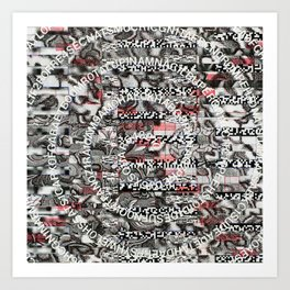 Creating Circumstances 4 Error 2 Fill the System with Meaning (P/D3 Glitch Collage Studies) Art Print