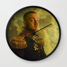Mac Miller Poster, Classical Painting, Regal art, General, Hip Hop Poster, Print, Rap Poster Wall Clock