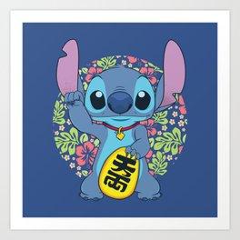 Maneki Stitch Art Print