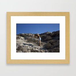 the wind Framed Art Print