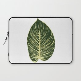 Philodendron Birkin leaf Laptop Sleeve