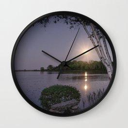 Niles Pond Moon Rise Wall Clock