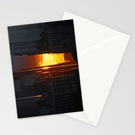 new york city ... golden light Stationery Cards