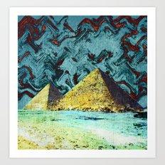 Psychedelic Pyramids Art Print